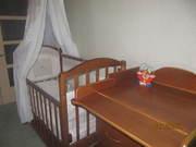 Детская кроватка + комод,  Можга